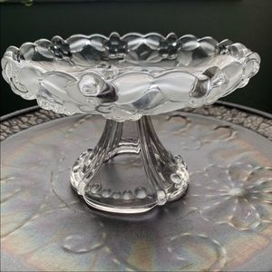 Vintage Bubble Glass Trinket Dish